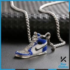 Vòng Cổ Jordan Chains Đỏ – Xanh – Dây Chuyền Hình Giày Jordan Titan Không Rỉ – Kuu Clothes