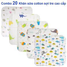 Combo 20 khăn sữa , khăn xô cotton sợi tre cao cấp an toàn cho trẻ sơ sinh ( ảnh thật) – KIBA.shop – đồ cho trẻ sơ sinh