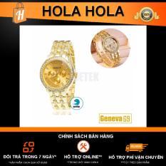 Đồng hồ nữ đính full hạt mặt và dây Geneva G9 (Vàng)