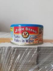 Cá ngừ ngâm nước muối AYAM Tuna flakes in water 150g (halal)