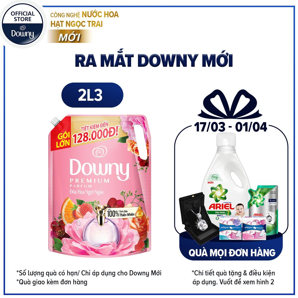 [Downy mới] Nước xả vải Downy Đóa hoa thơm ngọt ngào túi 2.3L
