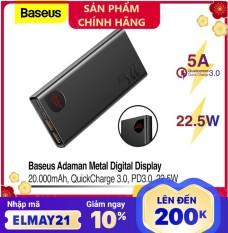 Pin dự phòng sạc nhanh Baseus Adaman Metal Digital Display Quick Charge 22.5W 20000mAh