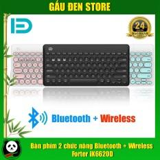 Bàn phím 2 chức năng bluetooth + Wireless Forter iK6620D – BH 24 tháng