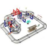 Đồ chơi trẻ em – Đồ chơi lắp ráp đường ray xe chạy DIY Racing Gồm 90 chi tiết + tặng kèm 1 ô tô leo đường ray