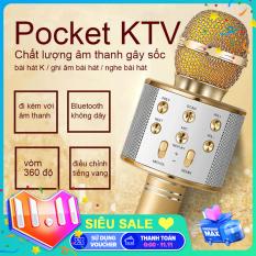 【New Be Có sẵn trong hai phiên bản】WS-858 Mic Hát Karaoke Bluetooth Không Dây Kèm loa Âm vang Ấm mic hát karaoke cầm tay mini micro hát trên xe hơi mic hát karaoke hay nhất hiện nay