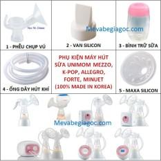(Made in Korea) Phụ kiện cho các máy hút sữa UNIMOM MEZZO, K-POP KPOP, ALLEGRO, FORTE, MINUET