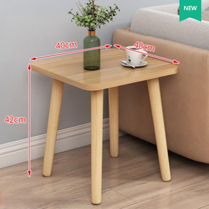 Bàn sofa chân gỗ tự nhiên, bàn trà sofa, bàn trà kích thước 40x40cm