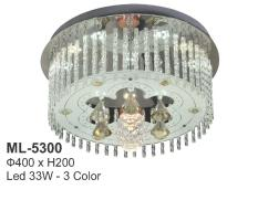 Đèn mâm ốp trần – trang trí pha lê VKT-ML-5300