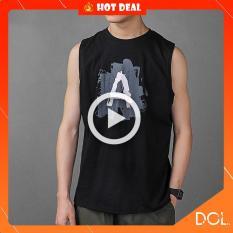 Áo ba lỗ nam in hình trẻ trung Hot mùa hè 2019 , chất thun co dãn mát mẻ phong cách áo 3 lỗ bóng rổ , 2 màu trắng và đen Phân phối và sản xuất bởi DOL-Vietnam