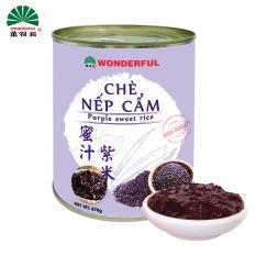 Chè nếp cẩm Wonderful lon 870g topping, thạch – Gia store