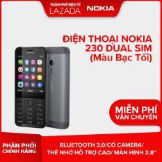 Điện thoại Nokia 230 Dual sim – Màu Bạc Tối