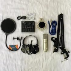Combo Mic AQTA AQ100 và sound card V8 full phụ kiện tặng tai nghe sony