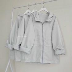 Áo khoác dù nữ cao cấp vải mero form unisex hàng chuẩn shop hottrend hàng chuẩn shop ( shop tự chụp ) thời trang HUY STORE88 SN01