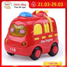 Bộ đồ chơi ô tô quán tính có đèn và nhạc mô tả xe cứu hỏa, cứu thương, cảnh sát, taxi đẹp và dễ thương