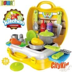 Bộ đồ chơi nấu ăn dụng cụ nhà bếp cho bé 26 món, với chất liệu nhựa cao cấp, màu sắc rực rỡ, tươi tắn làm cho các bé rất thích