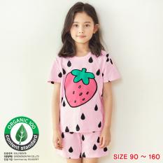 Đồ bộ ngắn tay mặc nhà cotton mịn cho bé gái U3027 – Unifriend Hàn Quốc, Cotton Organic