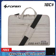 Túi Xách Chống Sốc Laptop, Macbook FoPaTi. Tiện Lợi Vừa Có Quai Đeo Vừa Chống Sốc. Mã 18C#. Tặng 1 Miếng Lót Chuột