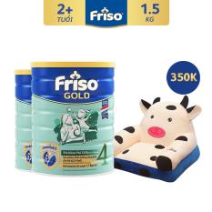 [Freeship toàn quốc] Bộ 2 lon sữa bột Friso Gold 4 1.5kg + Tặng Sofa con bò trị giá 350K – Giới hạn 5 sản phẩm/khách hàng