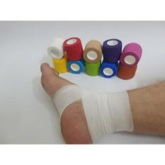 Băng keo thể thao đá bóng, băng cuốn tự dính gối cổ chân cổ tay giảm chấn thương. 3 loại kích cỡ 2,5cmx5m ; 5cmx5m ; 7.5cmx5m