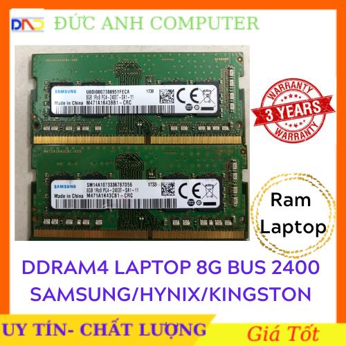 Ram DDR4 Laptop 8gb bus 2400 ram zin máy đồng bộ siêu bên và ổn định bảo hành 3 năm 8g bus 2400 Laptop Note 8g Bus 2400
