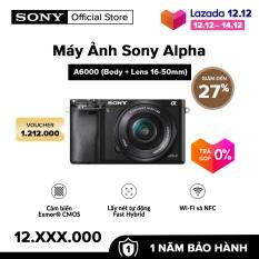 [VOUCHER 1.212K + VOUCHER 500K – TRẢ GÓP 0%] Máy Ảnh Sony Alpha A6000 + 16-50mm Bộ xử lý hình ảnh: BIONZ X Cảm biến: APS HD | HÀNG CHÍNH HÃNG