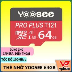 Thẻ Nhớ Micro SD Yoosee 32GB 16GB 64GB tốc độ cao 100MB chuyên dùng cho điện thoại, camera
