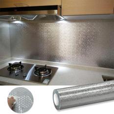 (KHỔ LỚN 9MX60CM) Cuộn decal tráng bạc cao cấp giấy dán bếp tráng nhôm cách nhiệt ô vuông bạc khổ 60cm keo sẵn