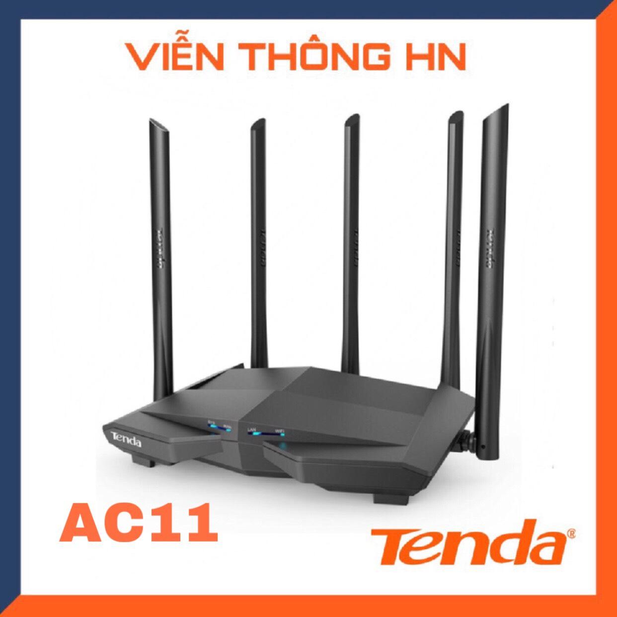 Bộ phát wifi tenda ac11 ac 1200 mp anten 6dbi/cpu 1GHz/ram 128 DDR3 phiên bản nâng cấp của tenda ac10...