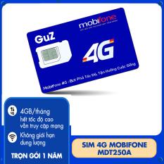 Sim 4G trọn gói 1 năm không nạp tiền MDT250A (4GB/Tháng) -Trọn gói 12 tháng không phải nạp tiền điện thoại Từ GuZ