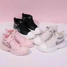 PHOM TO Giày boot bé trai bé gái giày cao cổ trẻ em mùa đông phong cách đế mềm cực chất