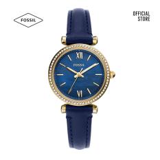 Đồng hồ nữ Fossil Carlie Mini Three-Hand Navy dây da ES5017 – màu navy