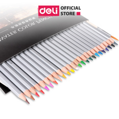 Bút chì màu nước cao cấp Deli 24 – 36 – 48 màu/ hộp kèm bút lông – 6518/6519/6520