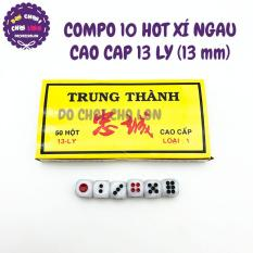 Bộ 10 hột xúc xắc lắc xí ngầu 13 LY CAO CẤP (13 mm)
