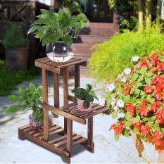 Kệ gỗ trang trí hoa gia đình