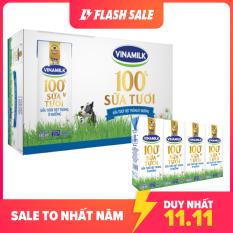 [FREESHIP TOÀN QUỐC]-Thùng 48 Hộp Sữa tươi tiệt trùng Vinamilk 100% Ít Đường 180ml