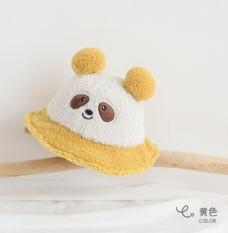Mũ Bucket Tai Bèo Hình Gấu Trúc Siêu Cute Cho Bé Từ 8 Tháng – 3 Tuổi Chất Vải Len Lông Xù Ám Áp Vòng Đầu 47-49cm