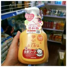 Sữa tắm, gội Arau Baby TOKYO SARAYA Nhật Bản gội thảo mộc êm dịu cho bé 450ml