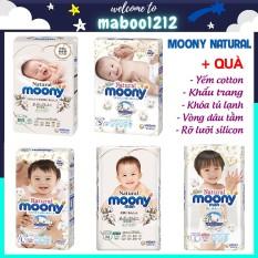 Bỉm Moony Natural trắng nội địa Nhật quần/dán size NB63/S58/M48/L36/XL32