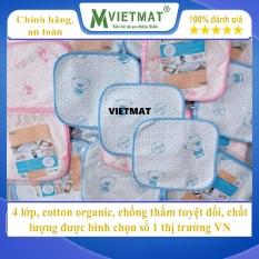 Combo 3 tấm size 30x30cm – Tấm lót chống thấm cotton 4 lớp VIETMAT