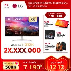 Màn hình máy tính LG Nano IPS UHD 4K (3840 x 2160) 60Hz 5ms 32 inches l 32UL950-W l HÀNG CHÍNH HÃNG