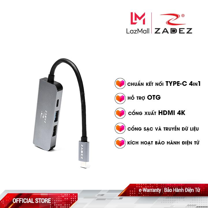 Bộ chuyển đổi Type-C Hub ZAH-514 (4 trong 1)