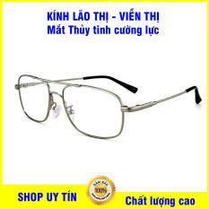 Kính lão thị viễn thị trung niên mắt kính THỦY TINH cường lực ĐỔI MÀU Siêu DẺO TITANIUM cao cấp mắt sẵn độ từ +1.00 đến +4.00 hàng cao cấp