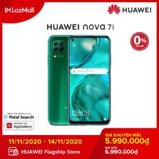 TRẢ GÓP 0% Điện thoại Huawei Nova 7i (8GB/128GB) – Bộ 4 camera sau chụp ảnh linh hoạt-Màn hình LCD 6.4 inch độ phân giải Full HD+ Cảm biến vân tay tích hợp nút nguồn-Pin 4200 mAh với công nghệ sạc nhanh Huawei Supercharge-Hàng chính hãng