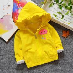 Áo khoác cho bé gái 3-8 tuổi họa tiết đáng yêu mũ trùm phối bèo BBShine – AK005