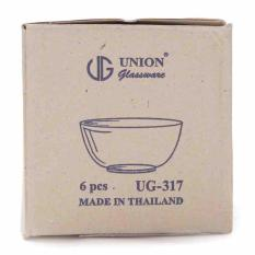 Bộ 6 chén thuỷ tinh UG 317 Thái Lan(chén ăn cơm)