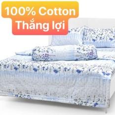Bộ Drap Cotton Thắng Lợi Kèm Mền Chần Gòn {5 MÓN } hoặc mền lẻ / chuẩn logo trên vải/