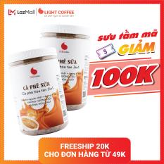 [MÃ GIẢM 100K] Combo 2 hũ cà phê sữa 3in1, KHÔNG HƯƠNG LIỆU Light Coffee – 500gr/hũ
