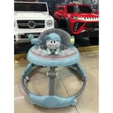 Xe tập đi tròn cho bé có nhạc kết hơp bàn ăn ( chất liệu thép và nhựa cao cấp)