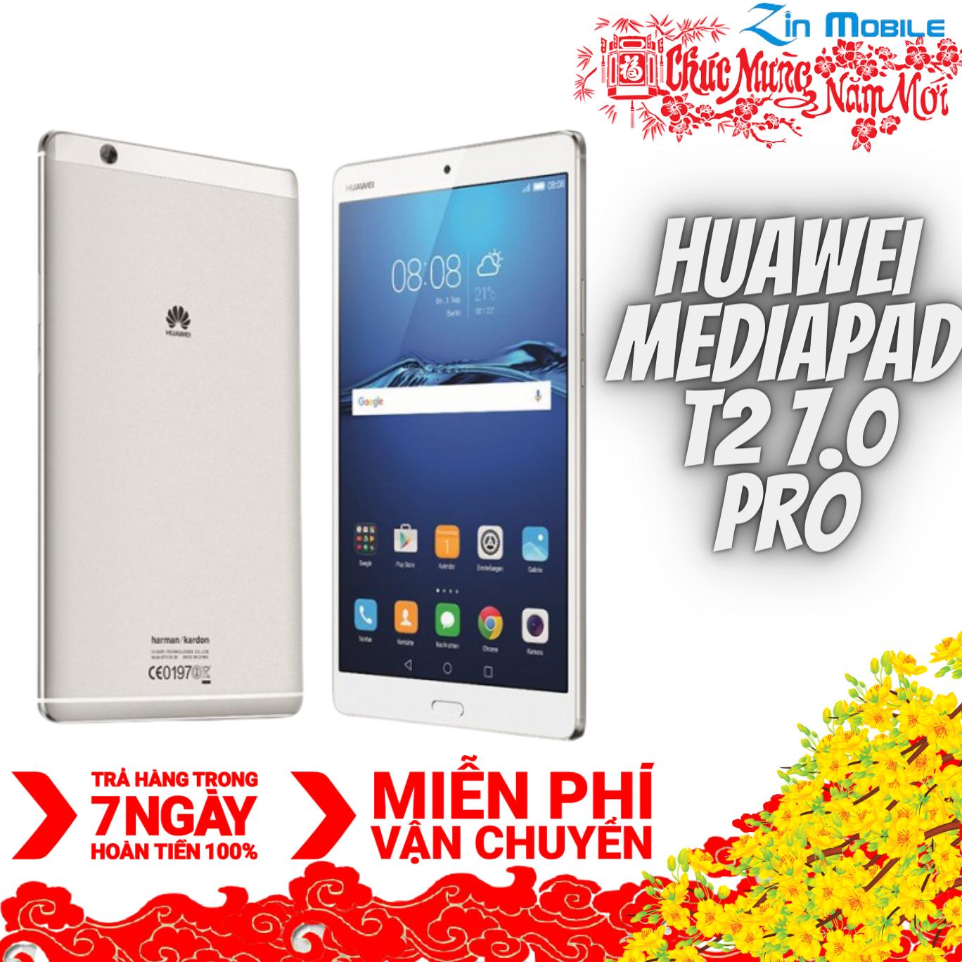 Máy tính bảng Huawei Mediapad T2 7.0 PRO – 2 sim nghe gọi ( Full 4G LTE WIFI 2GB RAM 16GB ROM SNAP 615 8 nhân , PIN 4100mAh