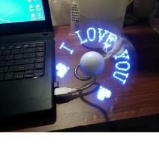Quạt đèn LED USB tự tạo chữ, thông điệp -nhắn nhủ yêu thương
